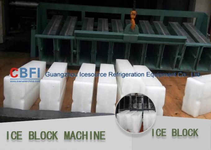 Stainless Steel 304 Ice Block Machine Germany Bitzer / Tanwai Hanbell Compressor