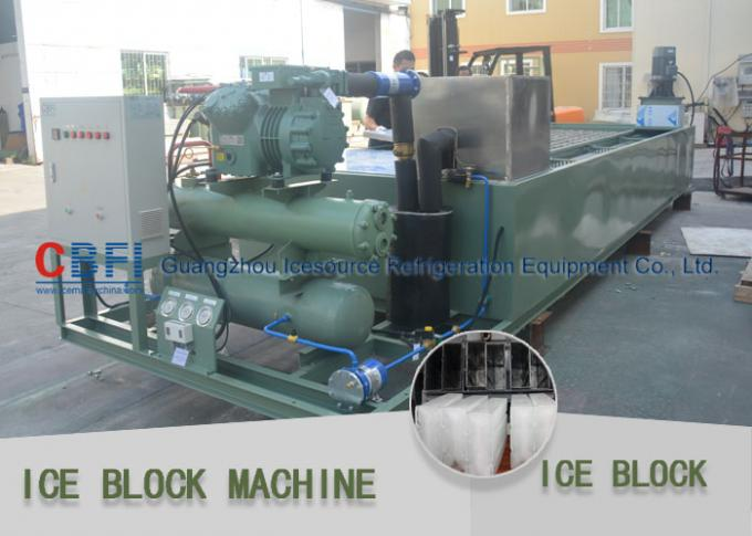 Philippines Block Ice Maker 5.2 Ton / 24 Hrs Industrial Ice Block Making Machine