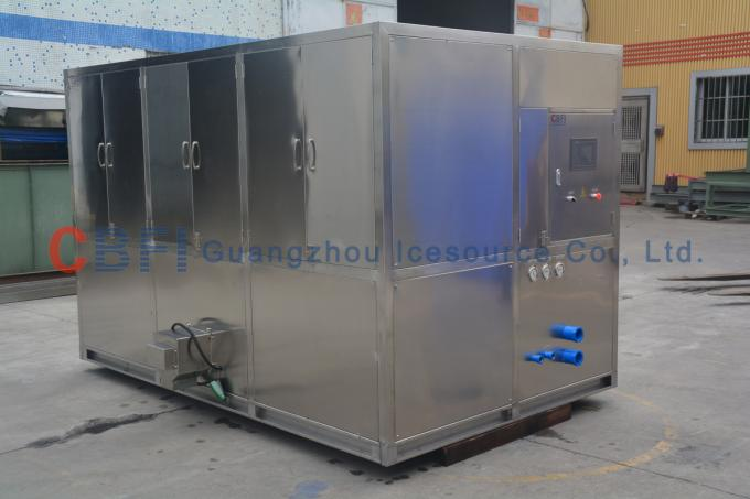 380V 50Hz 3P 5 Ton Ice Cube Machine With Low Power Consumption