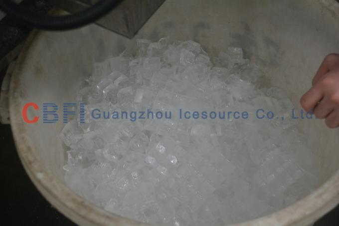 Water Cooling 3 Ton Portable Ice Cube Maker Machine with PLC Control