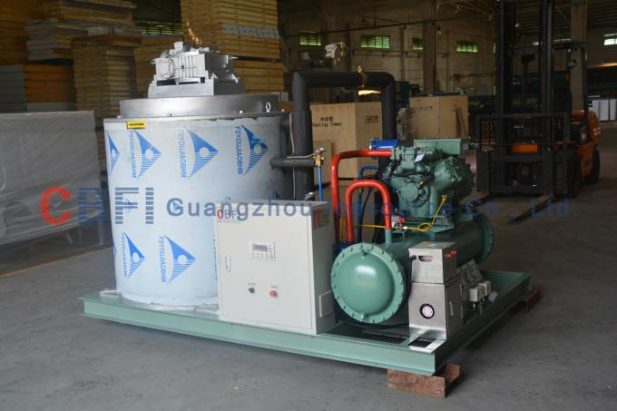 Automatic Quick 1 - 60 Tons Flake Ice Machine For Fruit And Vegetable Preservation