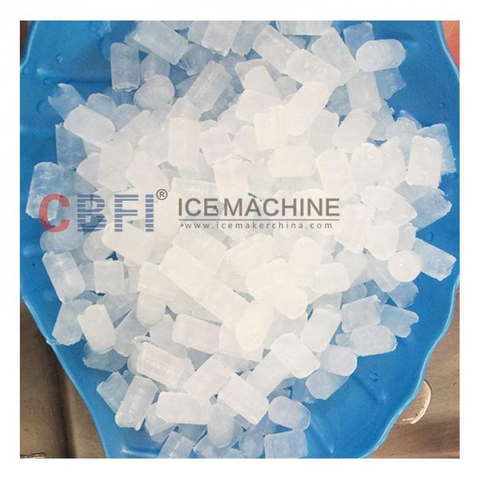 Large Capacity Energy Saving Crispy Ice 2 tones Edible Ice Cube Machine / Pellet Ice Maker