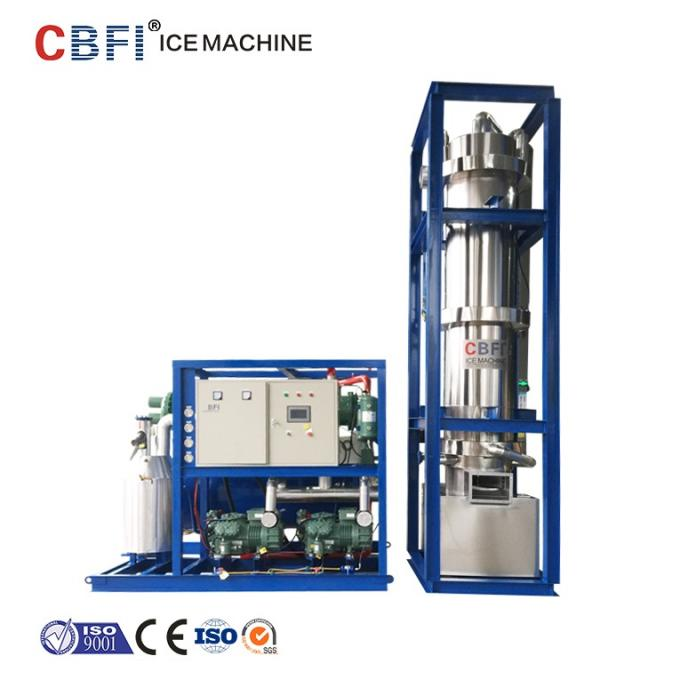 Freon System Commercial Ice Tube Machine 20 Ton Daily Capacity