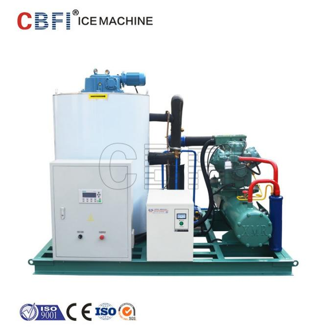 25 Hp Semi Hermetic Compressor Flake Ice Machine -5℃ ice temp 5 ton / day