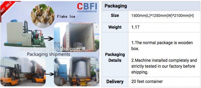 20 Tons Daily Capacity Flake Ice Machine / Ice Making Machine Easy Operation