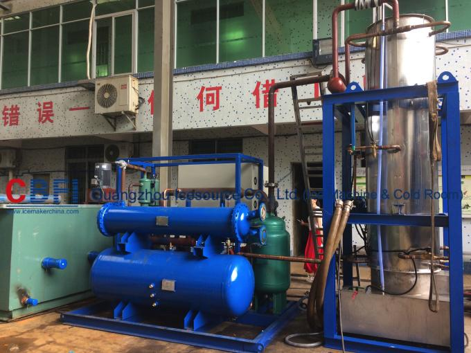 R404A Refrigerant 10000kg Tube Ice Making Machine with PLC Siemens system