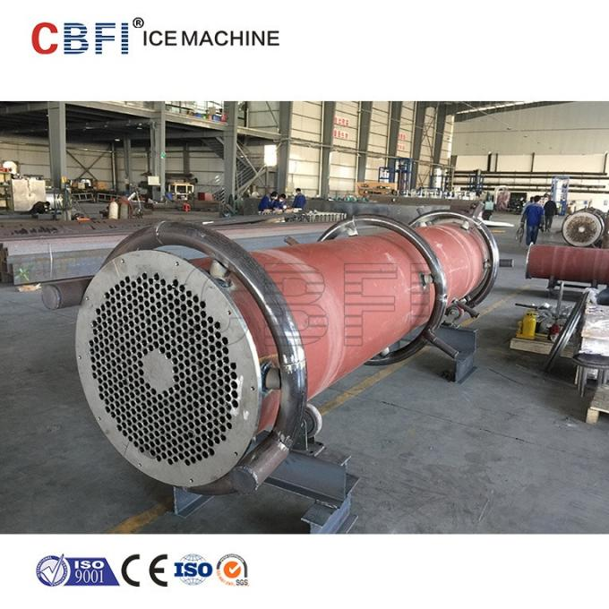 30 Ton Ice Tube Machine For Food Market with Stainless Steel 304 Evaporator