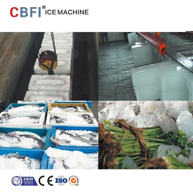 Automatic Stainless Steel Ice Block Ice Machine Used in Fishery / Precooling
