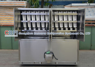 China Full Automatically Ice Cube Machine For Fast Food Shops / Supermarkets factory