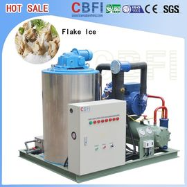 China 1 Ton 2 Tons 3 Tons 5 Tons Flake Ice Maker , Commercial Grade Ice Machine  supplier