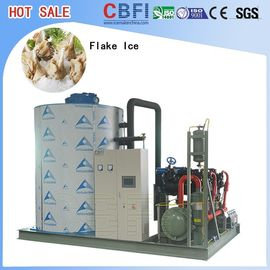 China Automatic Quick 1 - 60 Tons Flake Ice Machine For Fruit And Vegetable Preservation supplier
