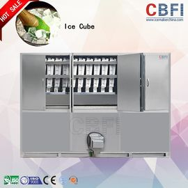 China 1000 ~ 20000Kgs / 24H Industrial Ice Cube Making Machine , Ice Makers Machines For Cold Drink factory