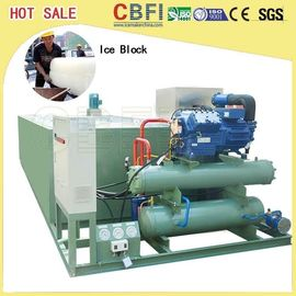 China Durable Meat / Fish Processing Ice Block Machine 5000kg Capacity factory
