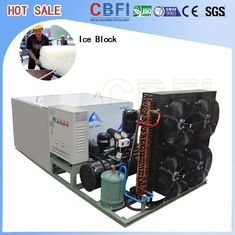 China Bitzer / Copeland / Hanbell Compressor Ice Block Machine 10000kg Capacity Per Day factory