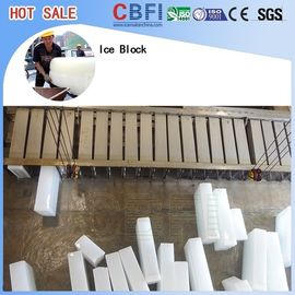 China Large Capacity Ice Block Plant / Industrial Ice Maker Machine 74kw.h / ton supplier