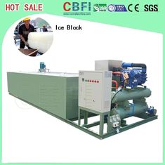 China Germany Bitzer Compressor Ice Block Machine With PLC Controller factory
