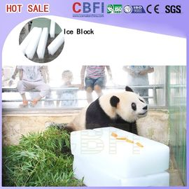 China R22 / R404a Refrigerant Ice Block Machine , Meat Cooling Ice Block Making Business factory