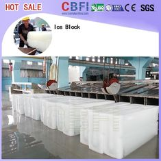 China Water Cooling Ice Block Machine , Ice Block Maker For Fishery / Transport factory