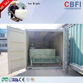 China Big Capacity Ice Block Maker Machine , Water / Air Cooled Ice Machine Restaurant  factory