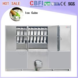 China Commercial Ice Maker / Ice Cube Making Machine With PLC Central Program Control factory