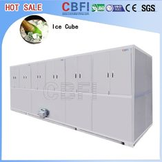 China Stainless Steel Ice Cube Machine 10 Tons , Ice Maker Machine With LG Electrical Components factory
