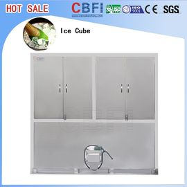 China Large Production Ice Cube Machine / Water Cooled Ice Maker Stainless Steel 304 factory