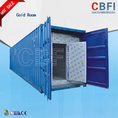 China Color Steel Panels Sliding Door Container Cold Room -18 - -25 For Fish And Meat factory