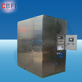 China Cold Drink Shops Plate Ice Machine With PLC Central Program Control  factory