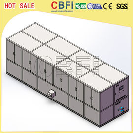 China Stainless Steel 304 Ice Cube Making Machine / R22 R404a Refrigerant Commercial Ice Maker factory