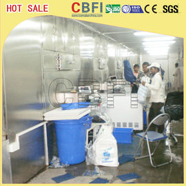 China Edible Industrial Commercial Ice Cube Machine with R22 / R404a Refrigerant factory