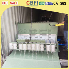 China Stainless Steel 316 Block Ice Maker / Dry Ice Block Machine With Crane System factory