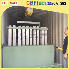 China Fishery Cooling Containerized Block Ice Machine Germany Bitzer Compressor factory