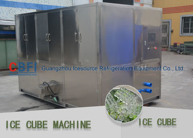 China PLC control system  Ice Cube Maker Machine low power consumption factory
