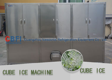 China Bitzer Compressor Ice Cube Machine / Industrial Ice Machines Energy Saving factory