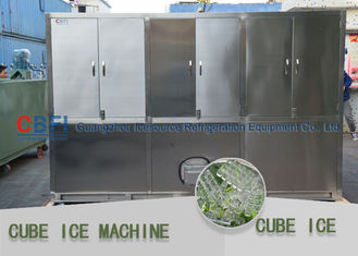 China Popular in Muslim Country Ice Cube Machine with Germany Bitzer cooling unit factory