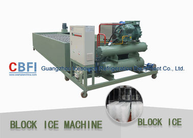 China 415V Industrial Power Supply Ice Block Machine With Water Cooling / Air Cooling factory