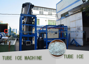 China High Output Long Evaporator Tube Ice Making Machine 5000 kg / 24h Capacity factory