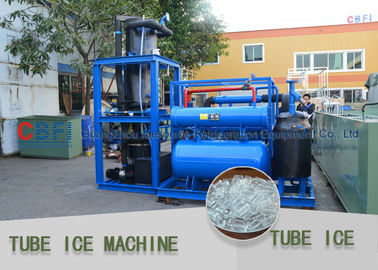 China CBFI Commercial Ice Tube Machine Tube Ice Maker Germany Bitzer Compressor factory