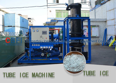 China Screw Type Compressor Ice Tube Machine Energy Saving PLC Controller Tube Ice Machine factory