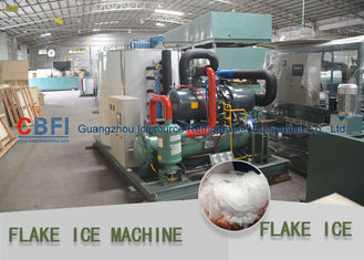 China Heavy Duty Flake Ice Machine For Fishery 500kg to 30 ton / 24hrs factory
