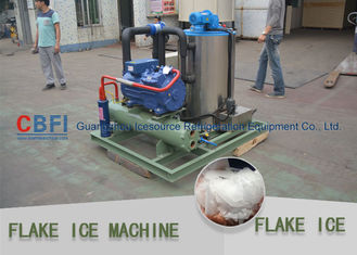 China 20 Tons Flake Ice Machine Stainless Steel Evaporator For Concrete Processing factory