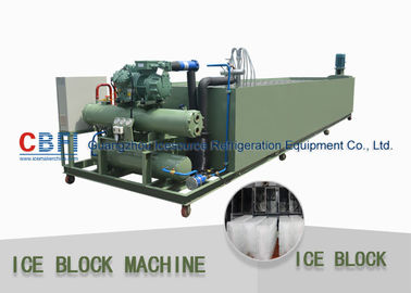 China Medium Scale Ice Block Making Machine Water Cooling 1000kg - 100000 Kg Capacity factory