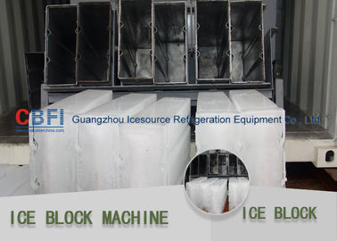 China Water Cooling / Air Cooling Block Ice Making Machine With Ice Crusher 380v factory