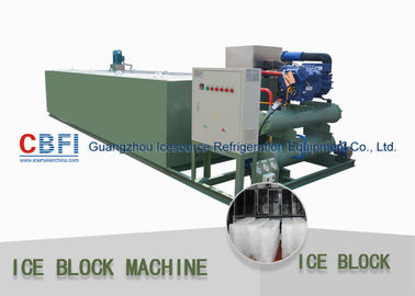 China R22 / R404a Refrigerant 5 Ton Per 24 Hrs Ice Block Making Machine For Ice Business factory