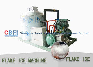 China Touch Screen Flake Ice Maker with German Bitzer Compressor / Water Cooling Condenser factory