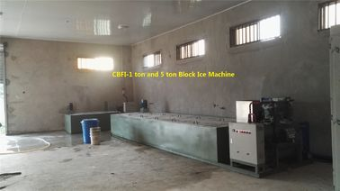 China 1 ton , 2 ton , 5 ton , 10 ton Ice Block Machine with Brine Water Tank R404a Refrigerant factory