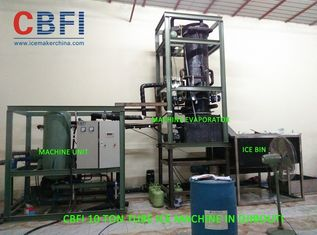 China 10 Ton Per Day Ice Tube Machine With Cold Room , Water Cooling factory
