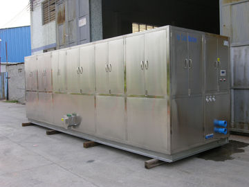 China R404a Refrigerant 10 Ton Ice Cube Machine For Restaurant , Supermarket factory