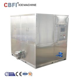 Water Cooled 2 Tons Square Cube Ice Maker for Food Grade Plant