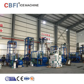 China 30 Ton Ice Tube Machine For Food Market with Stainless Steel 304 Evaporator supplier